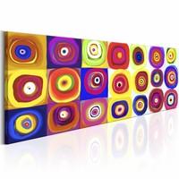 Schilderij - Kleurrijke Carrousel , multi kleur