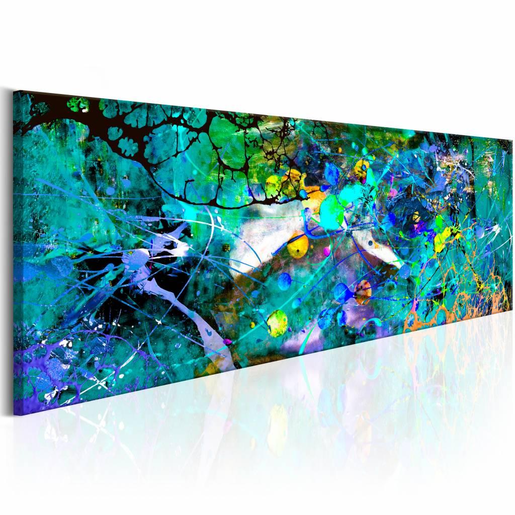 Schilderij - Saffieren Jungle