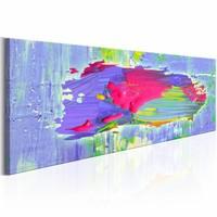 Schilderij - Kracht van Paars , roze ,  150X50 , 1 luik