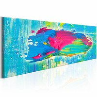 Schilderij - Eiland in kleuren, Multi-gekleurd