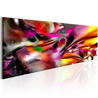 Schilderij - Felle Expressie, Multi-gekleurd, 2 Maten, 5luik