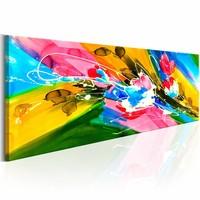Schilderij - Emoties van een zomer, Multi-gekleurd, 5luik