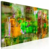 Schilderij - Groene landen  , 150X50 , 1 luik