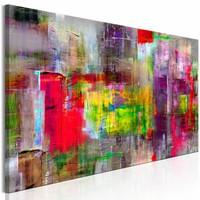 Schilderij - Land van de fantasie , Multi-gekleurd