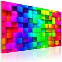 Schilderij - Gevlochten kleuren, Multi-gekleurd, 2 Maten, 1luik
