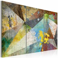 Schilderij - Kleuren prisma , multi kleur , 3 luik , 2 maten