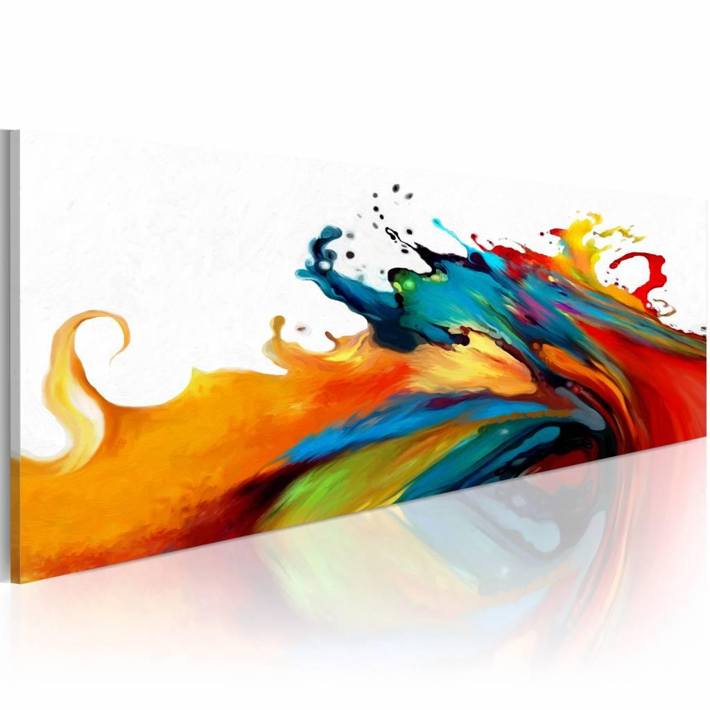 Schilderij - Storm van kleuren , multikleur