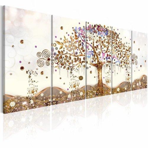 Schilderij - Betoverende Boom , 5 luik