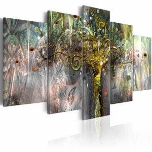 Schilderij - Kostbare Talisman , multi kleur ,  5 luik