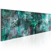Canvas Schilderij - Groene Boom , grijs , 1 luik , 2 maten