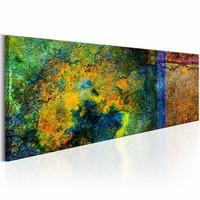Schilderij - Mysterie van de Zonnegrot , multi kleur