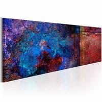 Schilderij - Diepte van de Zee 150x50cm , multi kleur , 1 luik