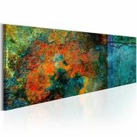 Canvas Schilderij - Metaal Kaleidoscope 150x50cm , multi kleur , 1 luik