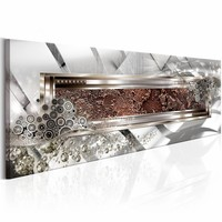 Schilderij - Metaal Kaleidoscope 150x50cm