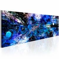 Schilderij - Blauwe Chaos