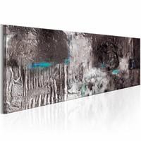 Schilderij - Zilveren Machine , zilver look