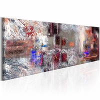 Schilderij - Essentie van een Artiest 150X50cm , multi kleur