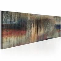 Schilderij - Regen van Verdriet , multi kleur