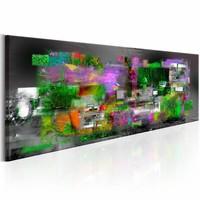 Schilderij - Creatieve Impuls 150X50cm , multi kleur