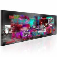 Schilderij - Bron van Inspiratie 150X50cm , multi kleur , 1 luik