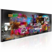 Schilderij - Artistieke Openbaring 150X50cm , multi kleur , 1 luik