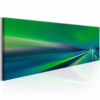 Canvas Schilderij - Groene lantaarn 150X50 , 1 luik
