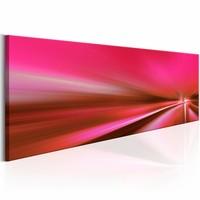 Canvas  Schilderij - Roze jachthaven 150X50 , 1 luik