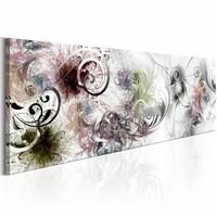Schilderij - Magische Melody 150X50 , grijs wit , 1 luik