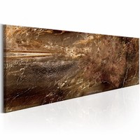 Canvas Schilderij - Kosmische Rivier 150X50 , bruin , 1 luik