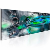 Canvas Schilderij -  Oceaan van Creativiteit 150X50  , groen blauw , 1 luik