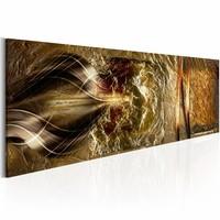 Schilderij - Gouden rijk , goud look , 1 luik , 2 maten