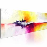 Schilderij - Het geheimzinnige eiland  , 120x40cm , 1 luik , multi kleur