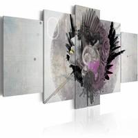 Schilderij - Vrouw met bloemen,  5luik