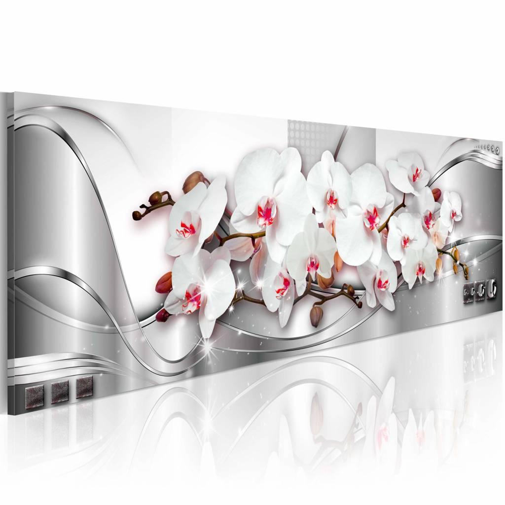 Schilderij - Bloemschikken Orchidee