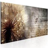 Schilderij - Dandelion on Concrete