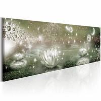 Canvas Schilderij - Betoverende Wereld - Lelie 150X50 , beige  , 1 luik