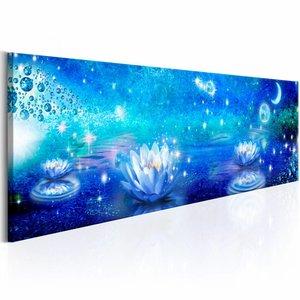 Canvas Schilderij - Sprookjesland , blauw wit , 1 luik , 3 maten