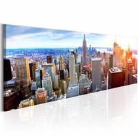 Schilderij - Prachtige Manhatten - New York , multi kleur