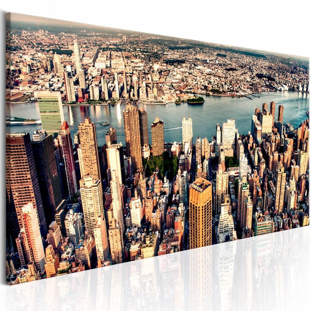 Schilderij - Panorama van New York , multi kleur , 1 luik , 3 maten