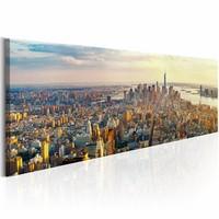 Schilderij - Amerikaanse Uitzicht 150X50cm , multi kleur , 1 luik , New York