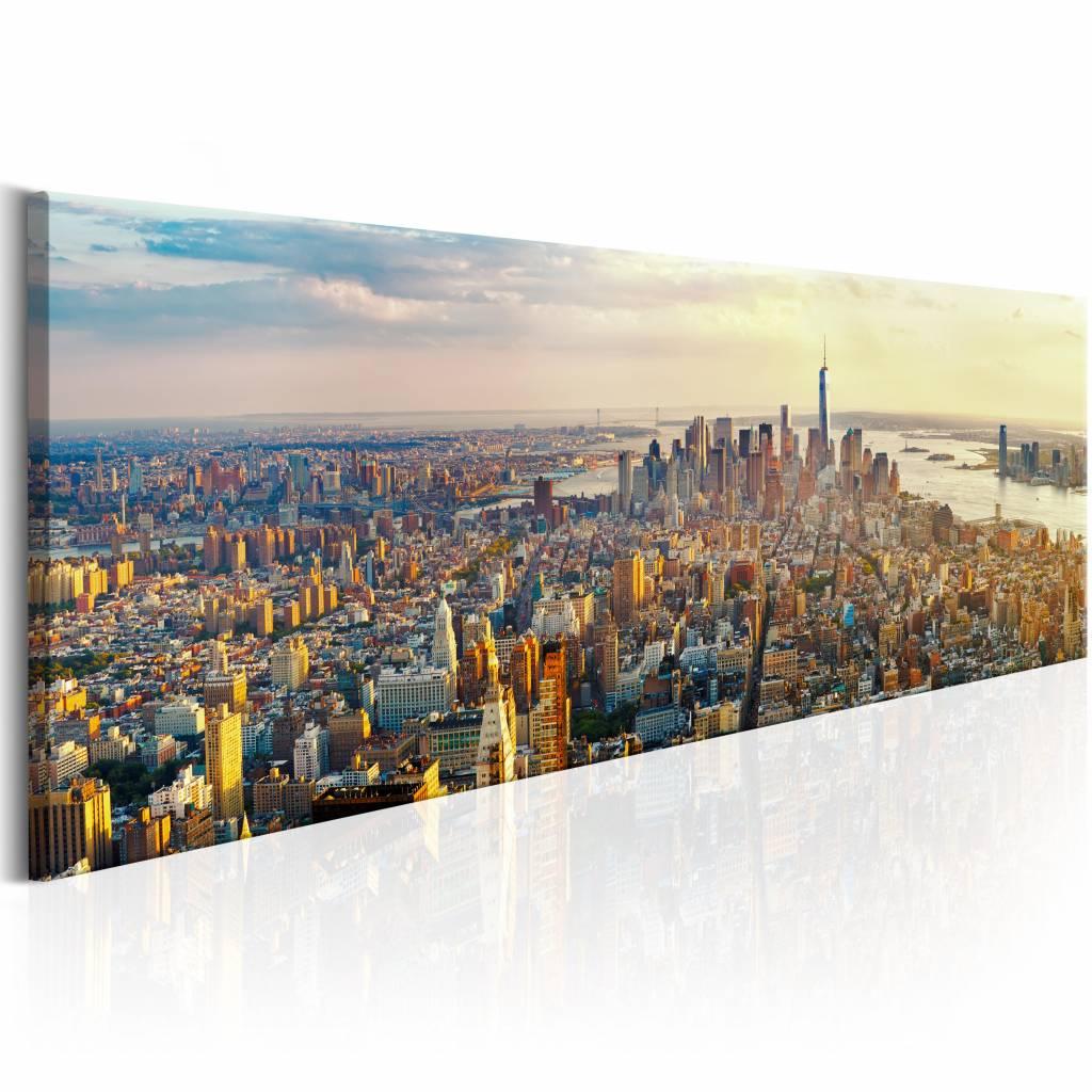 Schilderij - Amerikaanse Uitzicht 150X50 , multi kleur , 1 luik , New York
