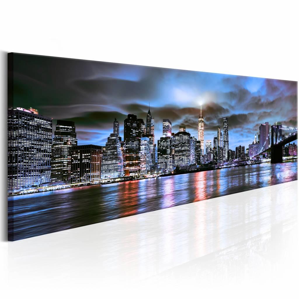 Schilderij - NYC: Stadse Vuurtoren 150X50 , New York , 1 luik , multi kleur