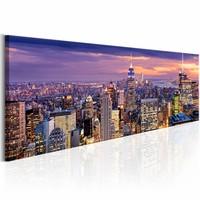 Schilderij - Ontwaken in New York 150X50cm , multi kleur ,  1 luik