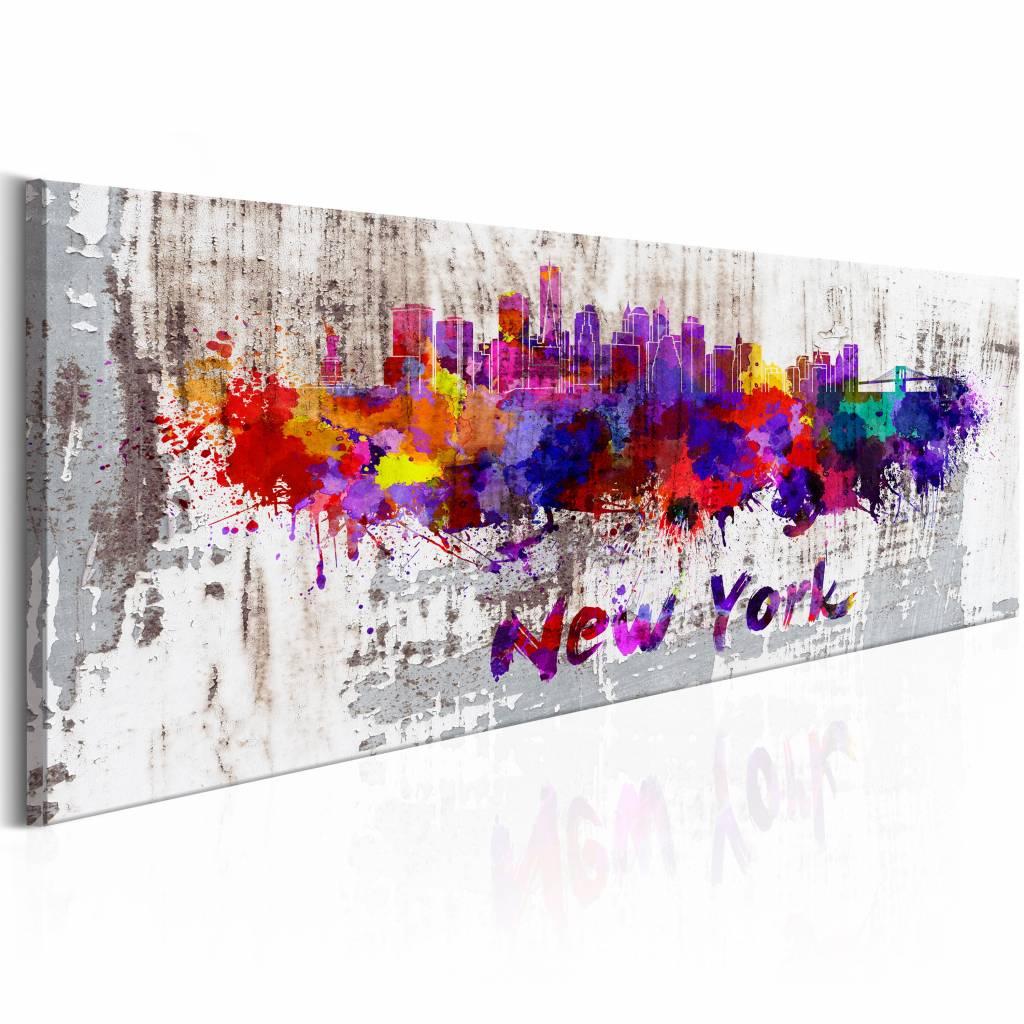 Schilderij - New York City - Stad van Artiesten, Multi-gekleurd, wanddecoratie
