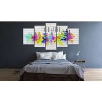 Schilderij -  New York City - In Kleuren, 5luik