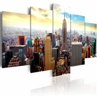 Schilderij - Heart of the city, New York City, Multi-gekleurd, 2 Maten, 5luik
