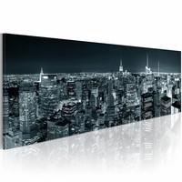 Canvas Schilderij - Boundless city, Grijs, 120X40, 1luik
