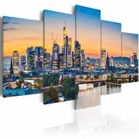 Schilderij - Frankfurt am Main, Duitsland , multi kleur , 5 luik