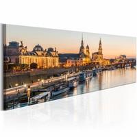 Schilderij - Prachtige Dresden , bruin , 1 luik