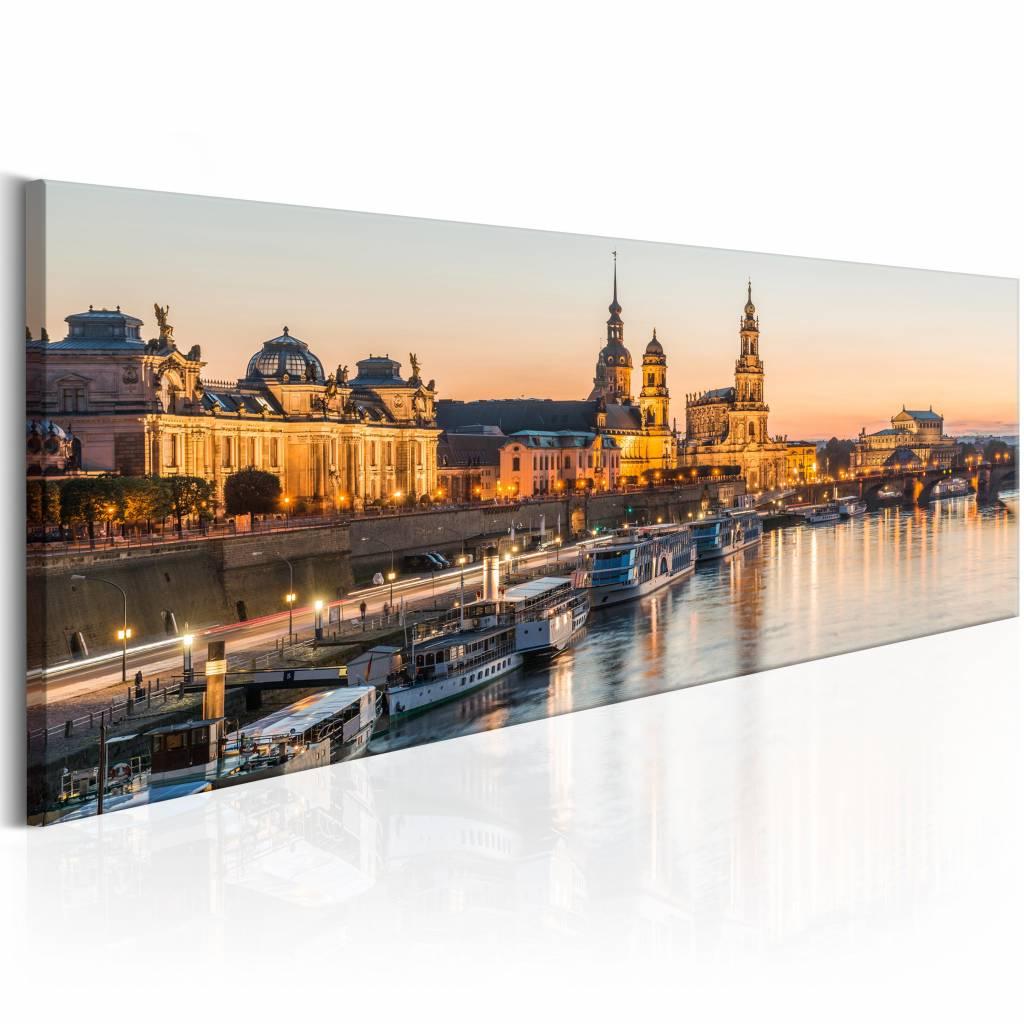 Schilderij - Prachtige Dresden , bruin , 1 luik , 2 maten